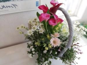 母の日に綱木紋の花かごを